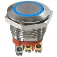 - 19 mm dia. anti-vandal and security pushbutton switches
